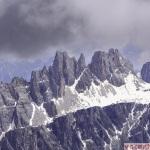 Priveliste dinspre refugiul Lagazuoi: 2.752 metri altitudine