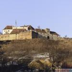 Cetatuia de pe Straja, vazuta din oras