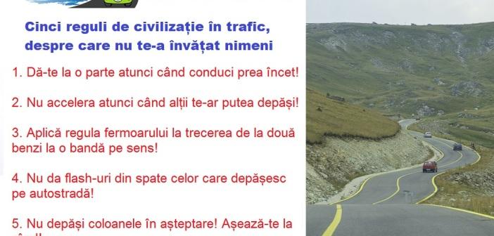 Cinci reguli de civilizatie in trafic, despre care nicio scoala de soferi nu te invata